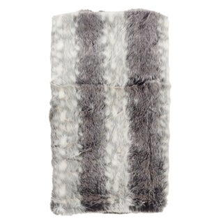Faux Fur Soft Ombre Poly Filled Throw Blanket