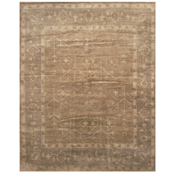 Handmade Herat Oriental Indo Hand-knotted Moroccan Wool Area Rug - 8' x10' (India)
