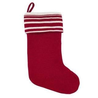 Holiday Striped Cuff Christmas Stocking