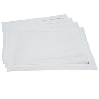 Classic Hemstitched Linen Placemat - set of 4 pcs