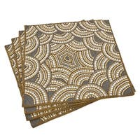 Elegant Faux Beaded Pearl Design Placemat - set of 4 pcs