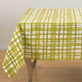 Abstract Basketweave Print Tablecloth