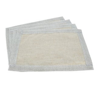 Jeweled Border Design Placemat - set of 4 pcs