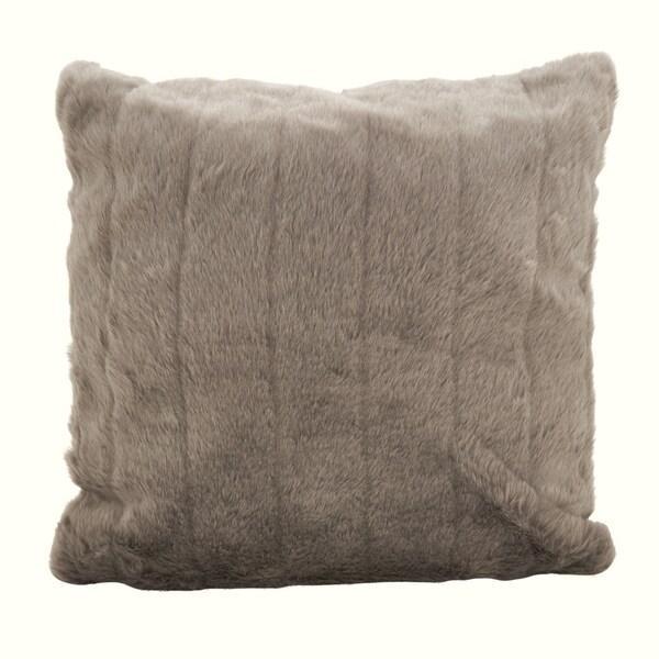 Faux Fur Plush Sable Poly Filled Throw Pillow