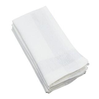 Metallic Border Stripe Cotton Napkin - set of 4 pcs