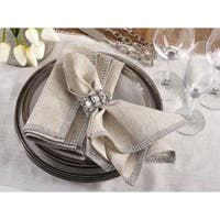 Jeweled Studded Border Napkin - set of 4 pcs