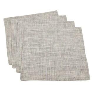 Textured Denier Twill Linen Cocktail Napkin - set of 4 pcs