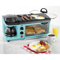 Nostalgia BSET300BLUE 3-in-1 Breakfast Station
