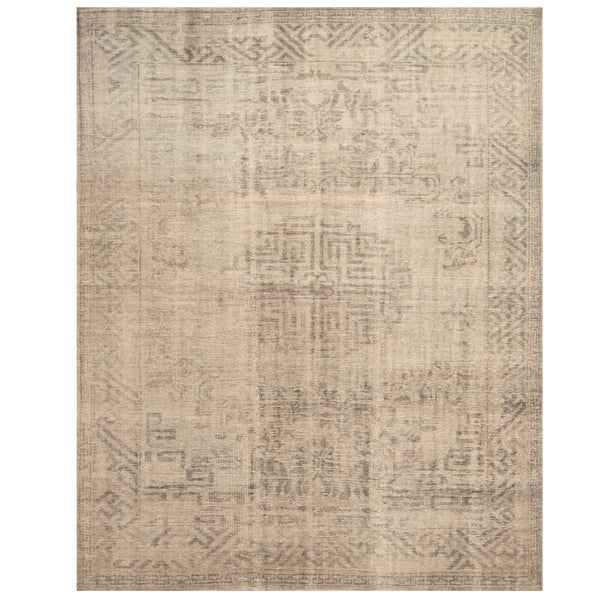 Handmade Herat Oriental Indo Hand-knotted Overdye Moroccan Wool Area Rug - 7'9 x 9'6 (India)