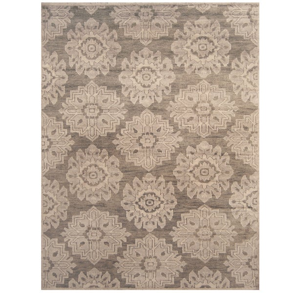 Handmade Herat Oriental Indo Hand-knotted Moroccan Wool Area Rug - 7'9 x 9'9