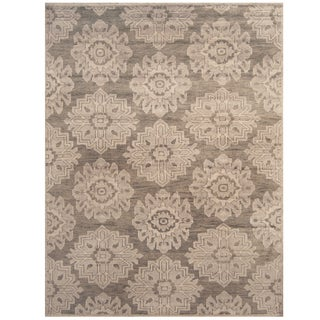 Handmade Herat Oriental Indo Hand-knotted Moroccan Wool Area Rug (7'10 x 10'2)
