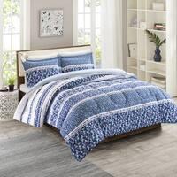 Intelligent Design Amelia Blue Reversible 3-piece Comforter Set