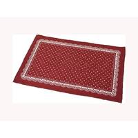 Evideco Cotton Mat Bathroom Bedroom Room Floor Mat Rug Red