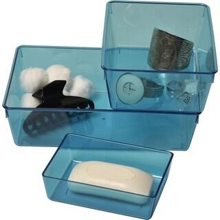 Evideco EVE Basket Storage Organizer Clear Blue -Set of 3 pieces