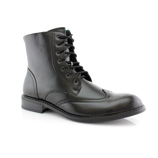 Delli Aldo Ken M828 Men's Stylish Ankle Dress Boots For Work or Everyday Wear