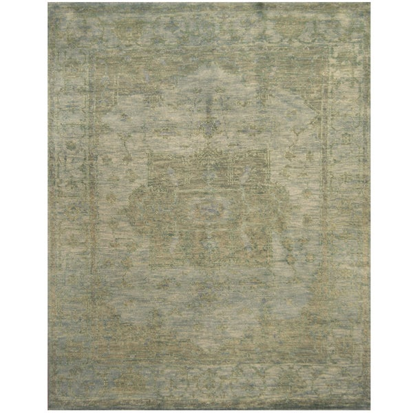 Handmade Herat Oriental Indo Hand-knotted Overdye Moroccan Wool Area Rug - 8' x 10' (India)