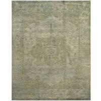 Handmade Herat Oriental Indo Hand-knotted Overdye Moroccan Wool Area Rug - 8' x 10'