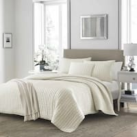 Stone Cottage Micromink Ivory Quilt Set