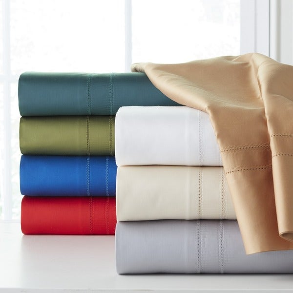 620 Thread Count Extra Deep Pocket 100 Percent Cotton King Size Sheet Set With Oversized Flat