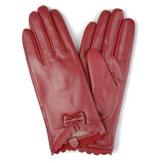 Journee Collection Women's Wool Lined Leather Sheepskin Gloves