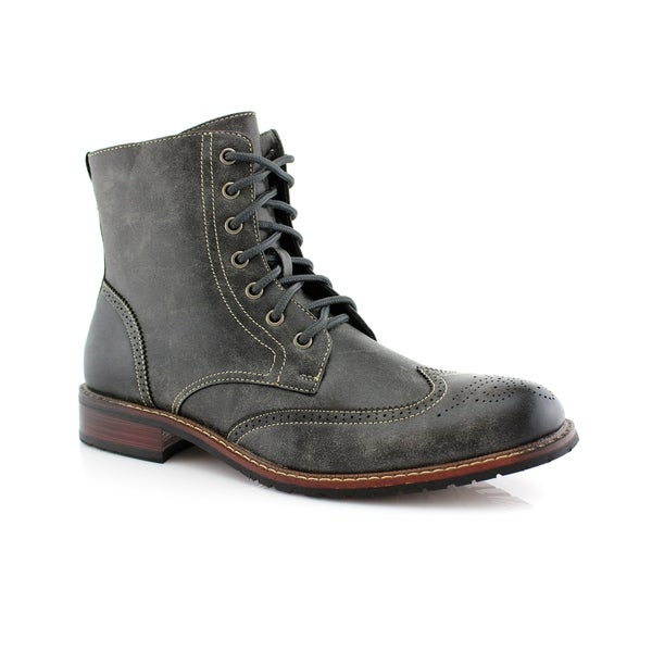 Delli Aldo Kaiser M828A Men's Stylish Ankle Dress Boots For Work or Casual  Wear