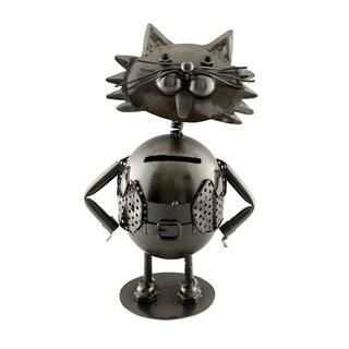 Metal piggy bank, kitten cat