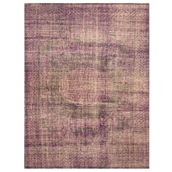 Handmade Herat Oriental Indo Hand-knotted Overdye Moroccan Wool Area Rug - 7'9 x 9'9