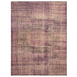 Handmade Herat Oriental Indo Hand-knotted Overdye Moroccan Wool Area Rug (India) - 7'9 x 9'9
