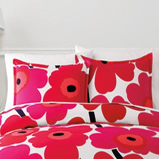Marimekko Unikko Red Duvet Cover Set