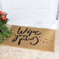 "Ottomanson USA Rugs Collection Rectangular Wipe Your Paw Doormat (Non-Slip) 20"" x 30"", Beige"