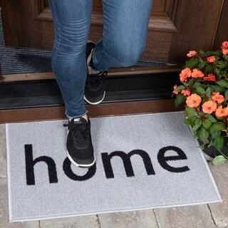 Ottomanson USA Rugs Collection Rectangular Non-slip Grey Home Doormat (1'8 x 2'6)