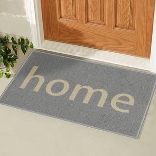 Ottomanson USA Rugs Collection Rectangular Non Slip Grey Home Doormat (1u00278 X