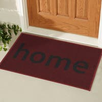 Ottomanson USA Rugs Collection Rectangular Non-slip Red Home Doormat (1'8 x 2'6)