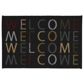Ottomanson USA Rugs Collection Rectangular Non-slip Multicolor Welcome Doormat (1'8 x 2'6)