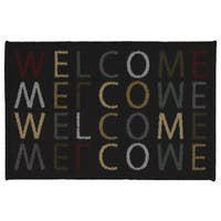 Ottohome Rectangular Welcome Design Non-slip Doormat