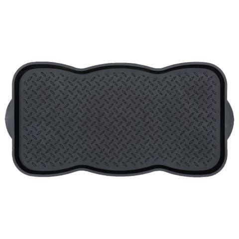 Ottomanson Storage Tray, Pet Bowl Mat Multipurpose Utility Boot Tray