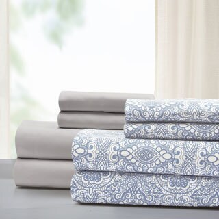 Amrapur Overseas Camila 8-Piece Printed & Solid Microfiber Sheet Set (More options available)