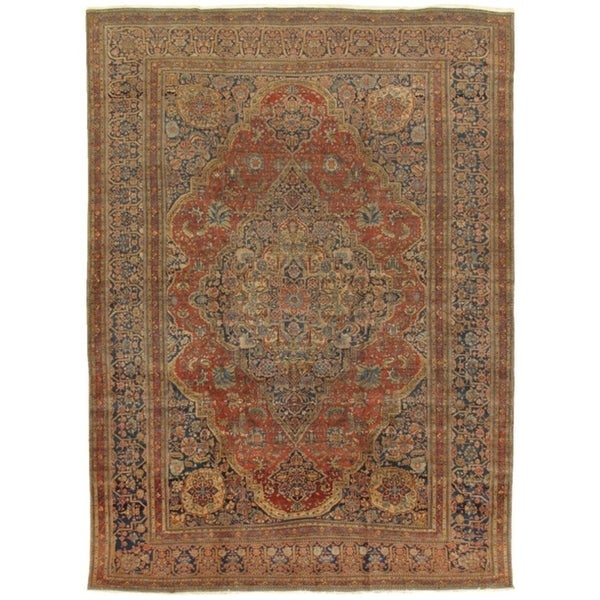 Shop Antique Kashan Collection Hand Knotted Wool Area Rug