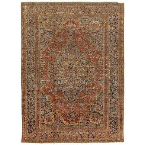 """Antique Kashan Collection Hand-Knotted Wool Area Rug (10' 2"""" X 13' 6"""")"""