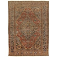 "Antique Kashan Collection Hand-Knotted Wool Area Rug (10' 2"" X 13' 6"")"
