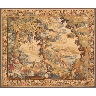 Pasargad Tapestry Collection Multicolor Rayon From Bamboo/Wool Handmade Area Rug (5'8 x 7'1)