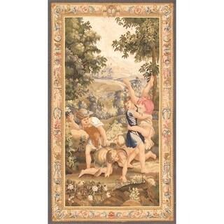 Pasargad Tapestry Handmade Multicolor Silk and Wool Rug (4' x 6'10)