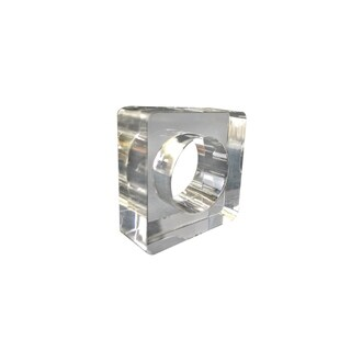 Clear Square Napkin Ring