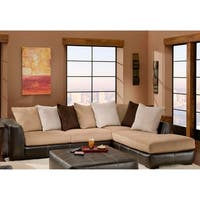 SofaTrendz Flora Two-Tone Sectional