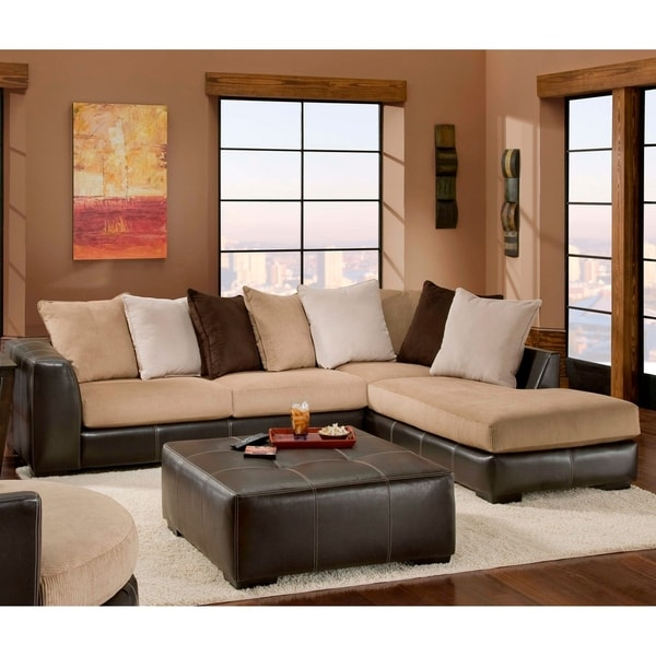Sofatrendz Flora Two Tone Sectional Ottoman Set