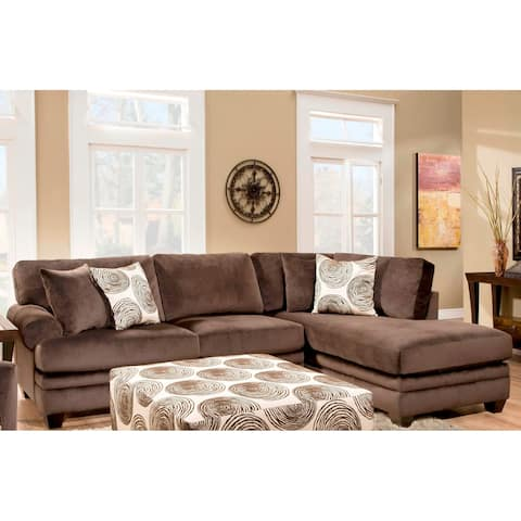 Sofatrendz Padded Micro Suede Sectional
