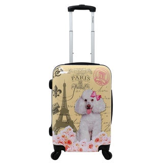 Chariot Paris Doggie 20-Inch Hardside Lightweight Upright Spinner Carry-On Suitcase