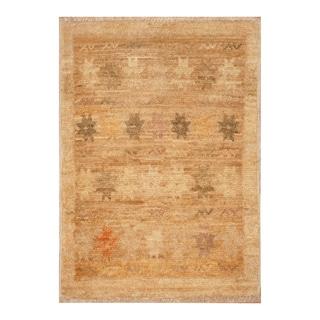 Handmade Herat Oriental Afghan Hand-knotted Vegetable Dye Wool Rug (1'4 x 2)