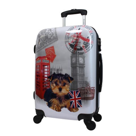 Chariot UK Doggie 20-Inch Hardside Lightweight Upright Spinner Carry-On Suitcase