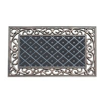 A1HC First Impression Diamond Artistic Grill Border 18 In. X 30 In. 100% Rubber Indoor/Outdoor Doormat with Copper Finish